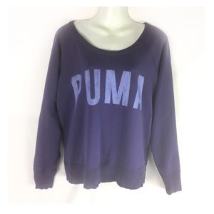 PUMA | sweatshirt loose fit logo front XL PURPLE